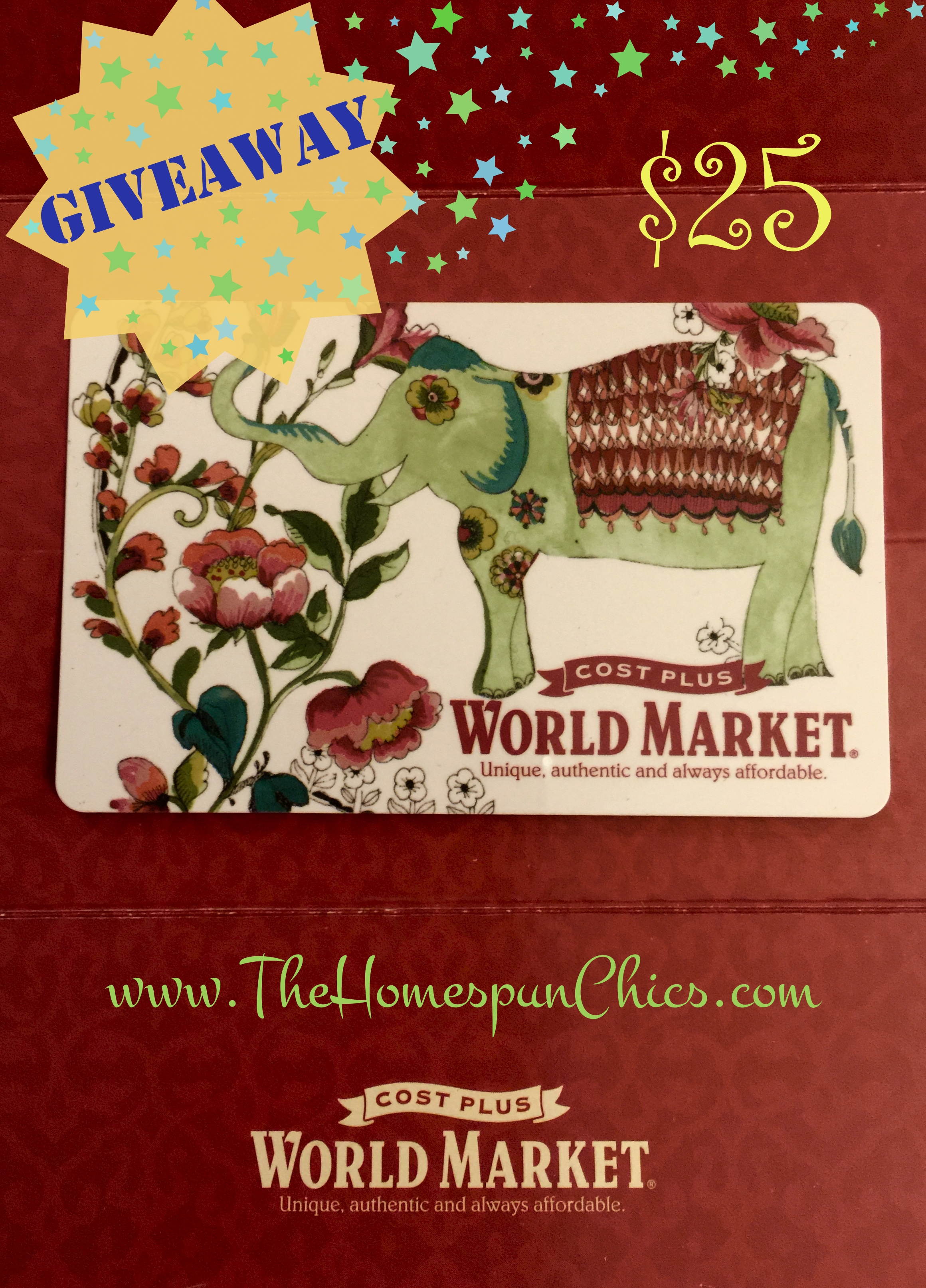 Giveaway 2500 world market gift card the homespun chics 2500 world market gift card the homespun chics m4hsunfo