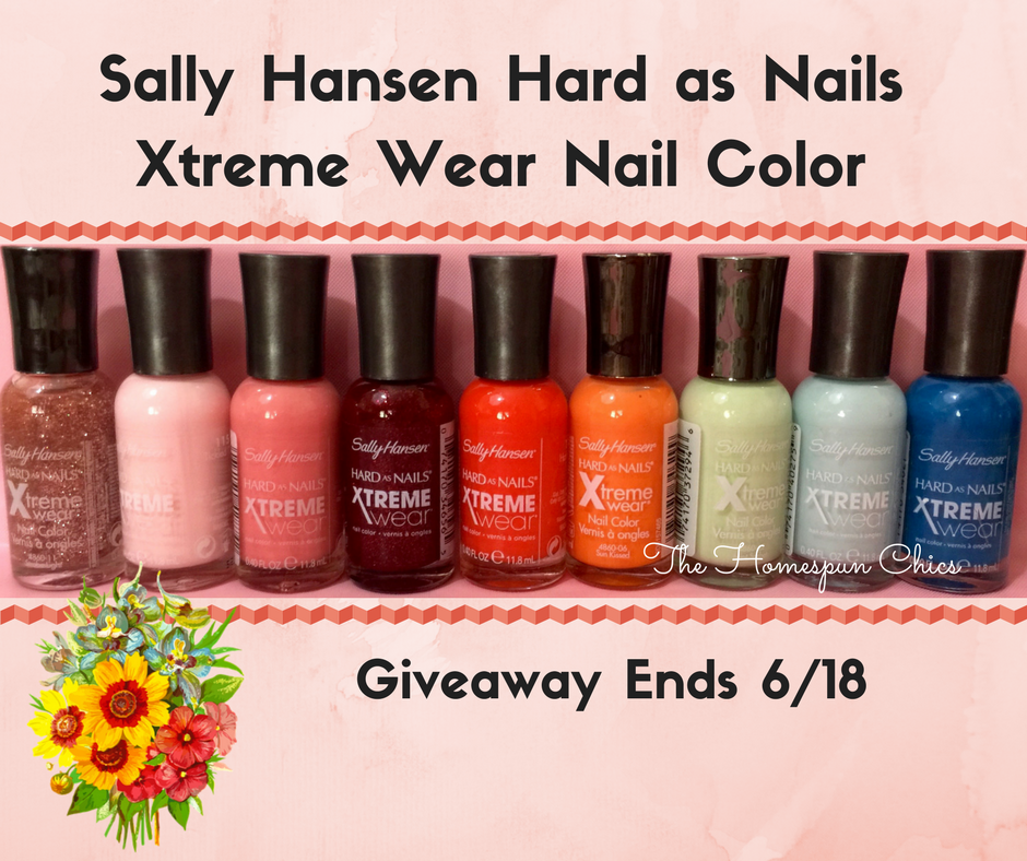 Sally Hansen Hard as Nails Xtreme Wear Nail Color Giveaway! | The ...