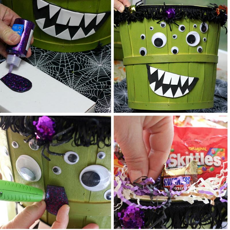 Make a Halloween Candy Basket to BOO It Forward! | The Homespun Chics