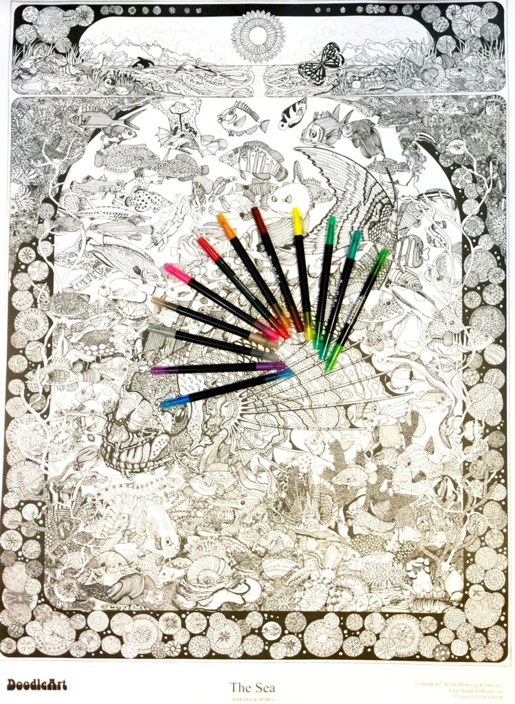 Color Your Own Beautiful Art Poster with The Original DoodleArt ...