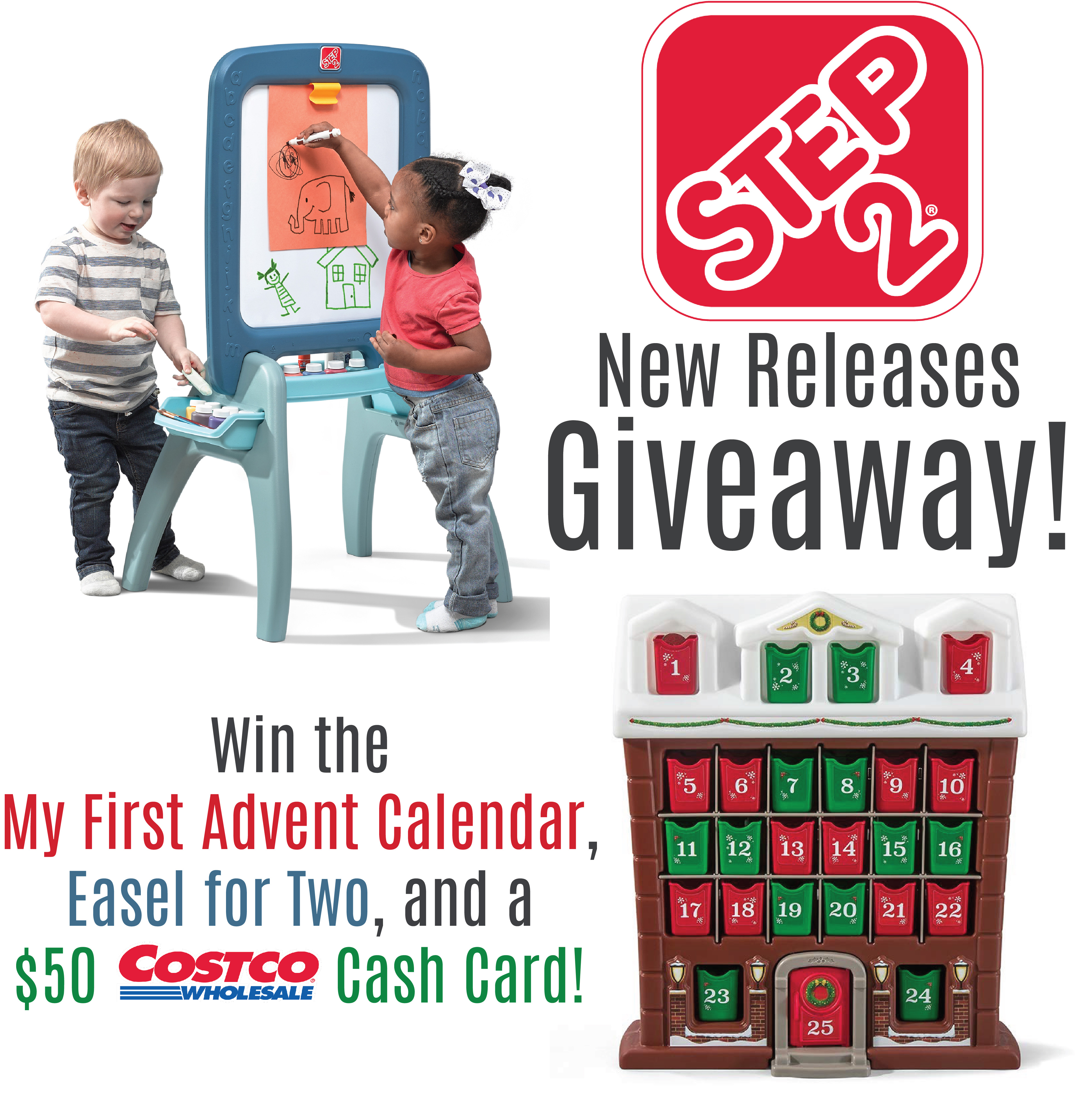 Costco $50 Gift Card + Step2 New Releases Giveaway! | The Homespun Chics